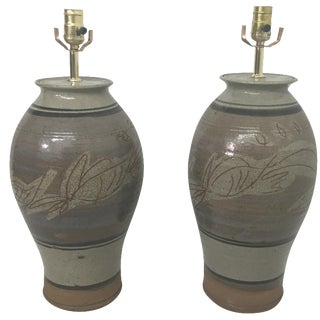 California Pottery Table Lamps - A Pair