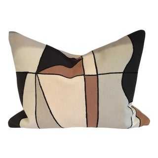Geometric Linen Kidney Pillow