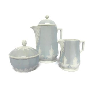 Vintage Nymphenburg Perl Blue Coffee Set