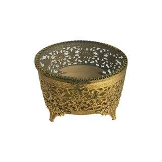Vintage Gold Plated Ormolu Jewel Box