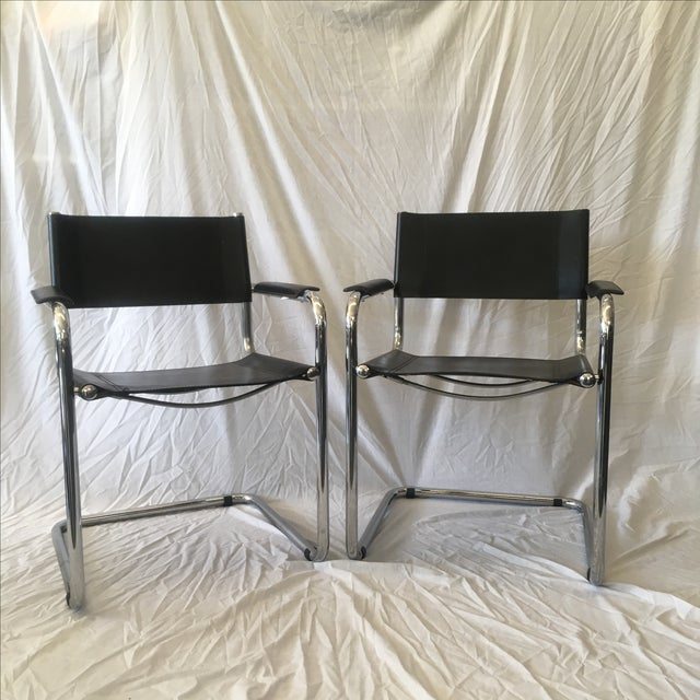 Cantilever Chairs by Marcel Breuer - Pair - Image 3 of 10