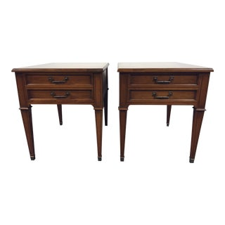 Vintage Heritage Mid Century Side Tables - Pair