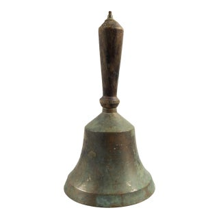 Antique Brass School Bell