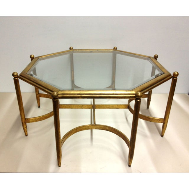 Regency Gold Gilt Glass Top Coffee Table Chairish