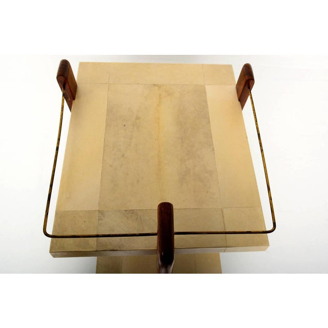 Mexican Modernist Goat Skin Service Cart - Image 4 of 10