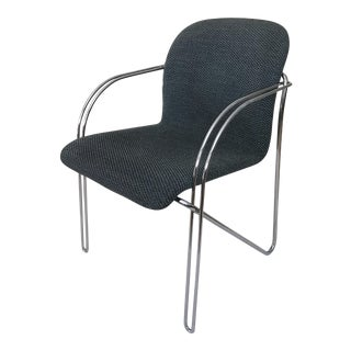 Modern Chrome Hairpin Leg Arm Chair