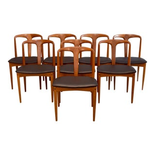 Johannes Andersen 'Juliane' Teak & Leather Chairs - Set of 8