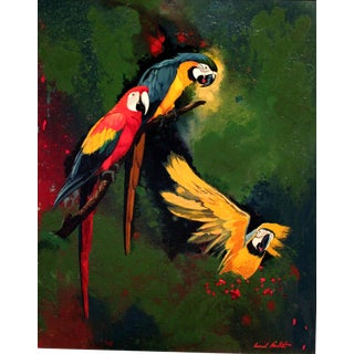 Contemporary Parrots Giclee Print