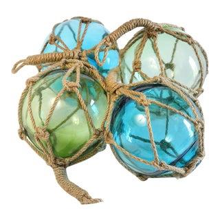 Glass Fishing Floats - Set of 4
