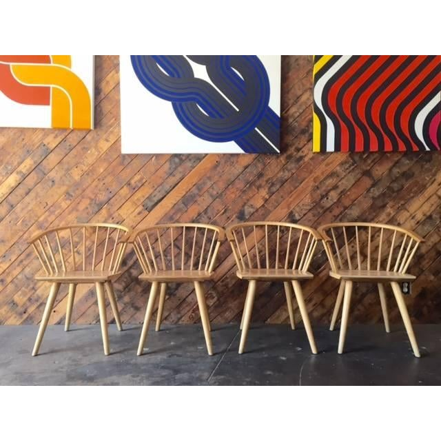 Mid Century Spindle Chairs - Set of 4 - Image 2 of 6