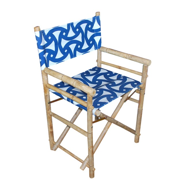 Bamboo Director's Chairs - Set of 4 - Image 1 of 7