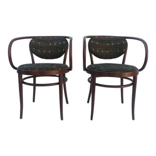 Vintage Thonet Armchairs - a Pair