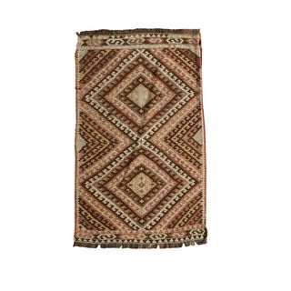 "Vintage Turkish Kilim Mat - 1'10"" x 2'10"""