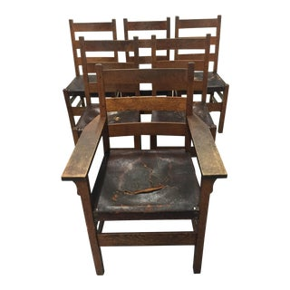 Gustav Stickley Mission Chairs- Set of 6