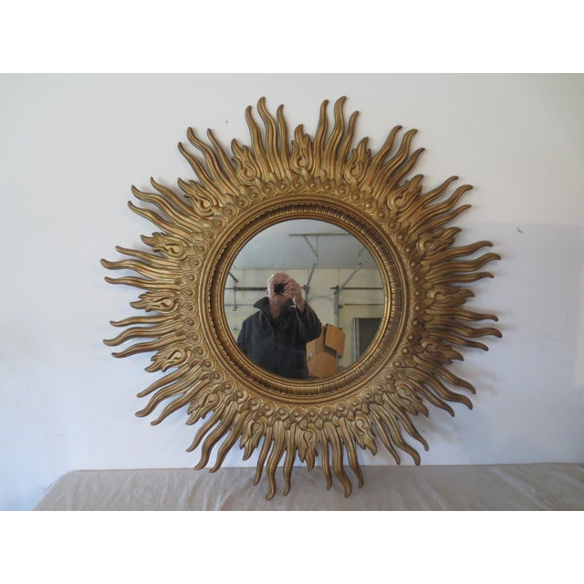 Vintage 1970s Gold Sunburst Mirror - Image 2 of 6