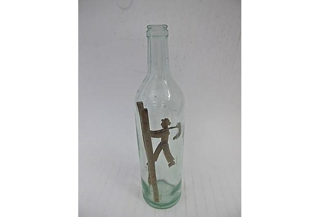 Antique Hand Carved French Bottle Art Chairish