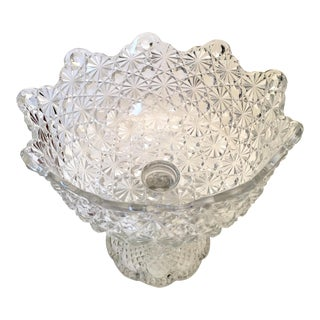 Contemporary Footed Crystal Bowl
