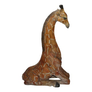 Monumental Original Painted Carnival Art Giraffe