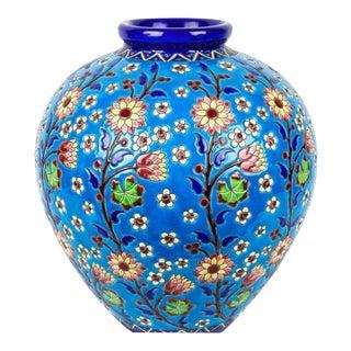 Keramis Charles Catteau Blue Floral Vase