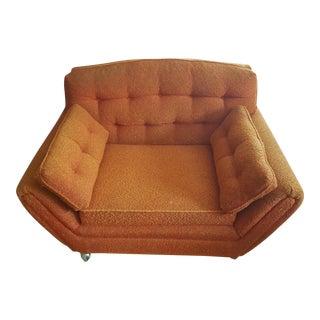 Mid-Century Orange Club Chair