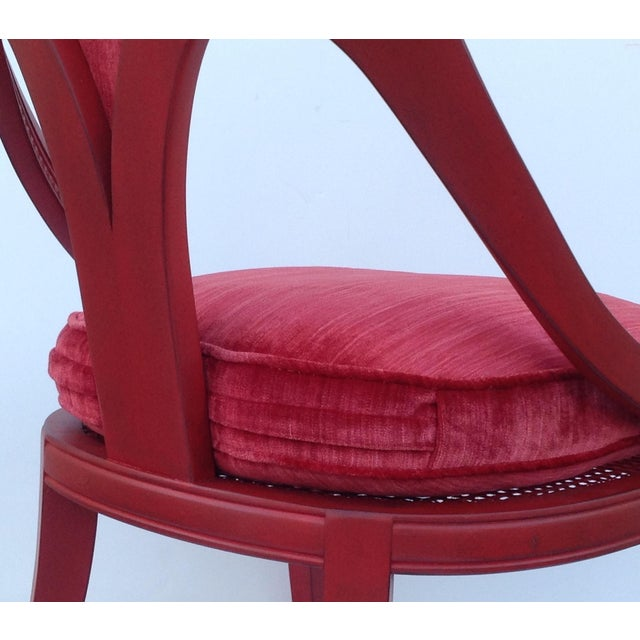 Michael Taylor for Baker Red Spoon Back Chair - Image 9 of 11