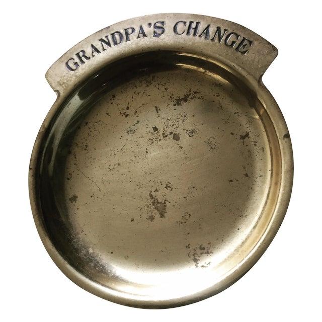 Image of Vintage Solid Brass Pocket Change Dish