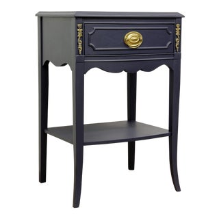 Vintage Navy Side Table/Nightstand