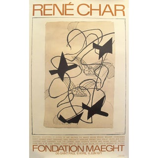 1971 French Exhibition Poster, Rene Char by Georges Braque