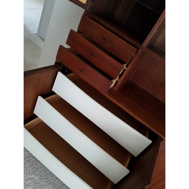Mid-Century Dillingham Wall Unit with Shelving - Image 6 of 9