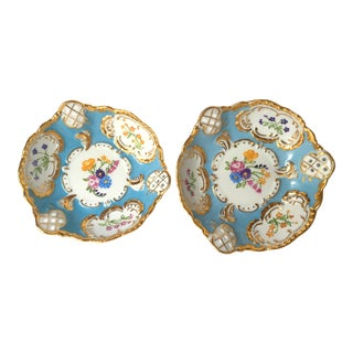 Antique Hand Painted Candy Dishes - A Pair