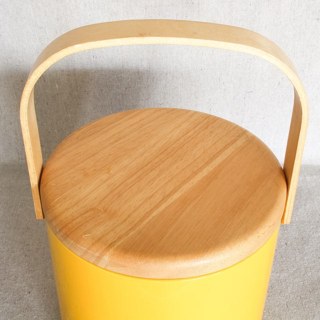 Georges Briard Yellow Ice Bucket - Image 3 of 9