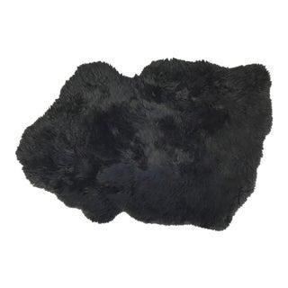 Brazilian Black Sheepskin Rug - 2′2″ × 3′3″