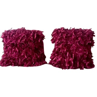 "Burgundy ""Confetti"" Pillows - A Pair"