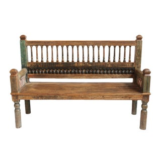 Architectural Wood Spindle Bench