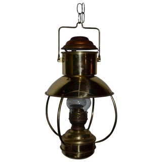 Mid-Century Hanging Copper Lantern