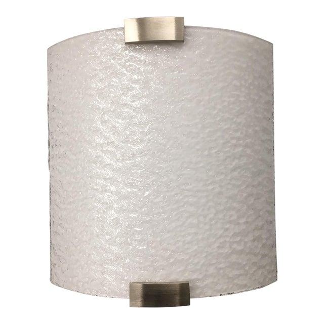 Slumped Glass Wall Sconces : LBL Omni Glass & Aluminum Wall Sconce Chairish