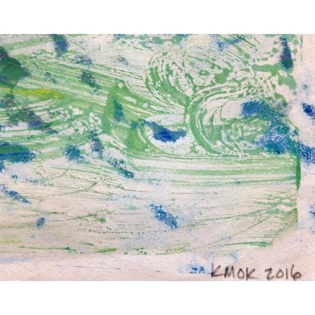 """Blue Mist"" Handmade Ink on Paper Monotype, 2016 - Image 3 of 4"