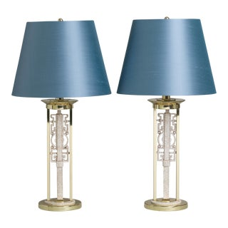 An Unusual Pair of Oriental Inspired Table Lamps 1970s