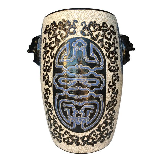 Chinese Porcelain Lion Head Motif Garden Stool - Image 1 of 11