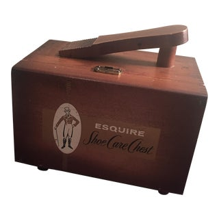 Mid-Century Esquire Shoe Shine Box