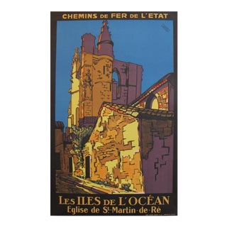 1930 French Travel Poster, Iles de l'Ocean