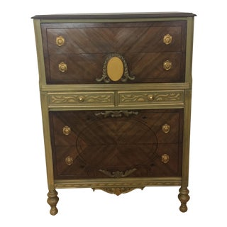 Vintage Six Drawer Gorgeous Dresser or Chest, Victorian Style