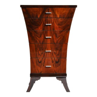 Art Deco Style Chest of Drawers with Curved Sides