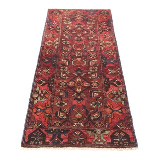 Vintage Persian Zanjan Short Runner - 3' X 6'6""