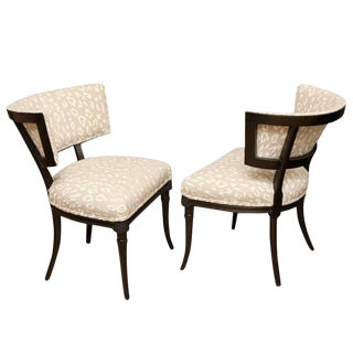 Elegant Pair of Sculptural Grosfeld House Side Chairs