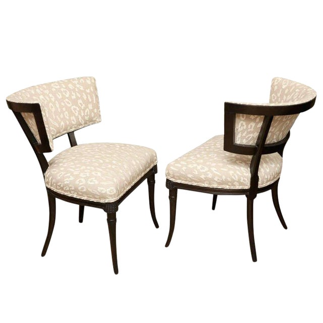 Elegant Pair of Sculptural Grosfeld House Side Chairs - Image 1 of 10