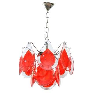 Gino Vistosi for Murano Art Glass Chandelier