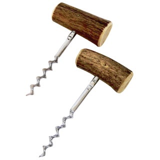 Shed Antler Cork Screws - A Pair