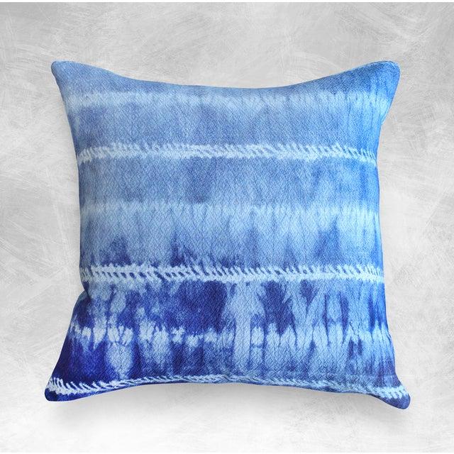 "New Tie Dyed ""Shibori Avani"" Handmade Bali Pillow - Image 3 of 3"