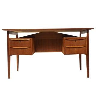 Danish Modern Floating Dual Sided Desk